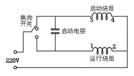种单相电机的接线图