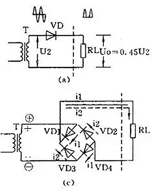 肖特基二极管整流电路图