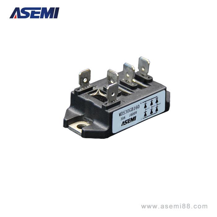变频器整流桥电路图 asemi原装进口mdsgb30-16 三相整流桥