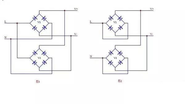 整流桥并联电路如何连接?