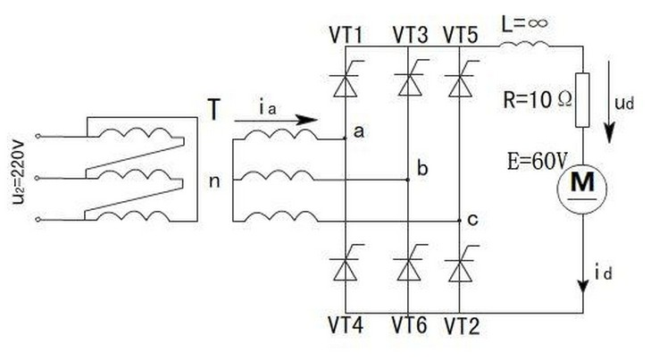 三相整流桥电路图的设计原理【asemi半导体】