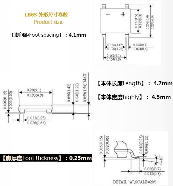 集成整流桥图片介绍asemi lbs封装