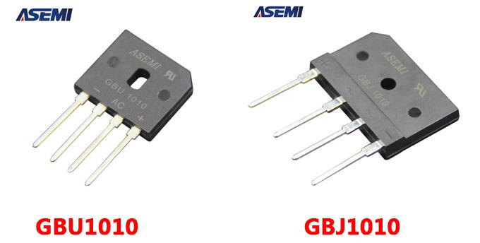 整流桥gbu1010跟gbj1010有什么区别?asemi为您详解