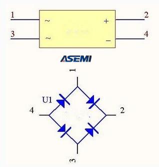 DB206S整流桥的结构和参数选择的方法【ASEMI】