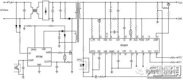小mos管,单片机附近有ntc热敏电阻来检测充电器温度